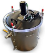 Vacuum Degassing Chamber with Mixer