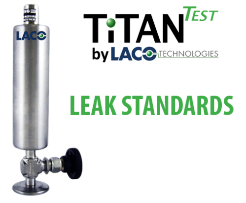 Calibrated Leak Standards - Helium Leak Detector - LACO TitanTest