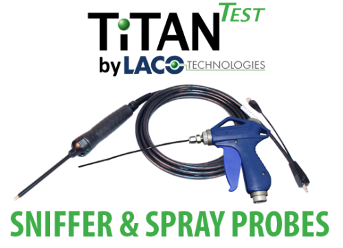 Helium Sniffer and Spray Probes - Helium Leak Detector - LACO TitanTest