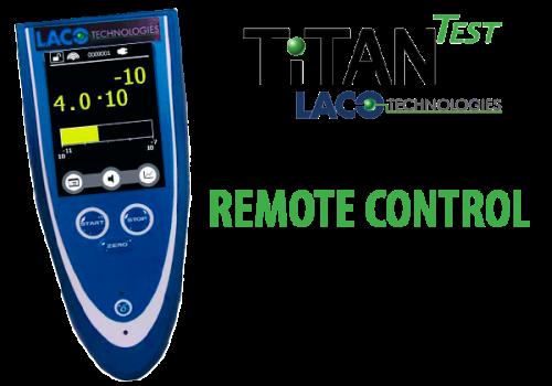 Remote Control - Helium Leak Detector - LACO TitanTest