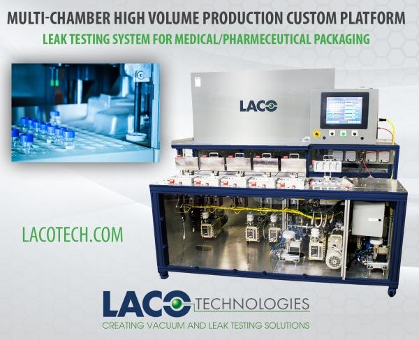 Leak testing system for Medical-Pharmeceutical packaging
