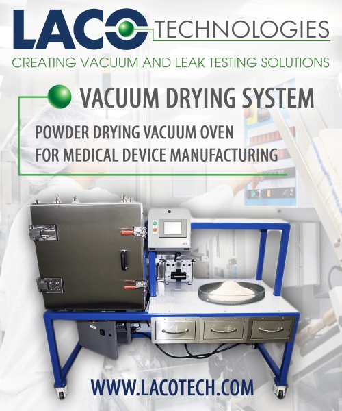 Powder Drying Vacuum Oven - Medical Device Manufacturing