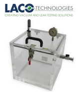 Clear Cube Vacuum Chamber with port on side