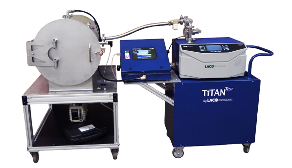 Atlas Leak Test Process Controller and Helium Charger, TitanTest Helium Leak Detector, and Vacuum Chamber