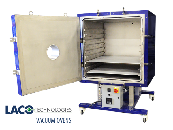 Vacuum Oven Open Door - LACO Technologies - Vacuum Bake-Out (with logo)