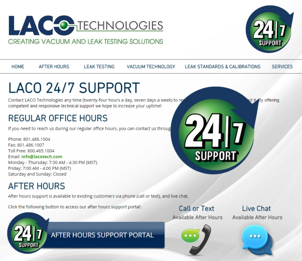 LACO Technologies 24-7 Support